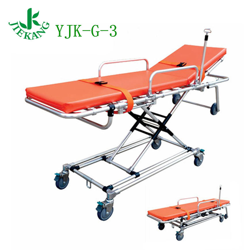 YJK-G-3 low price medical ambulance stretcher with adjustable size