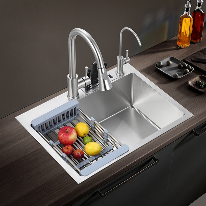 Factory Direct Customized Cheap Price Deep Single Bowl High Grade 304 Stainless Steel Kitchen Sink YK5040