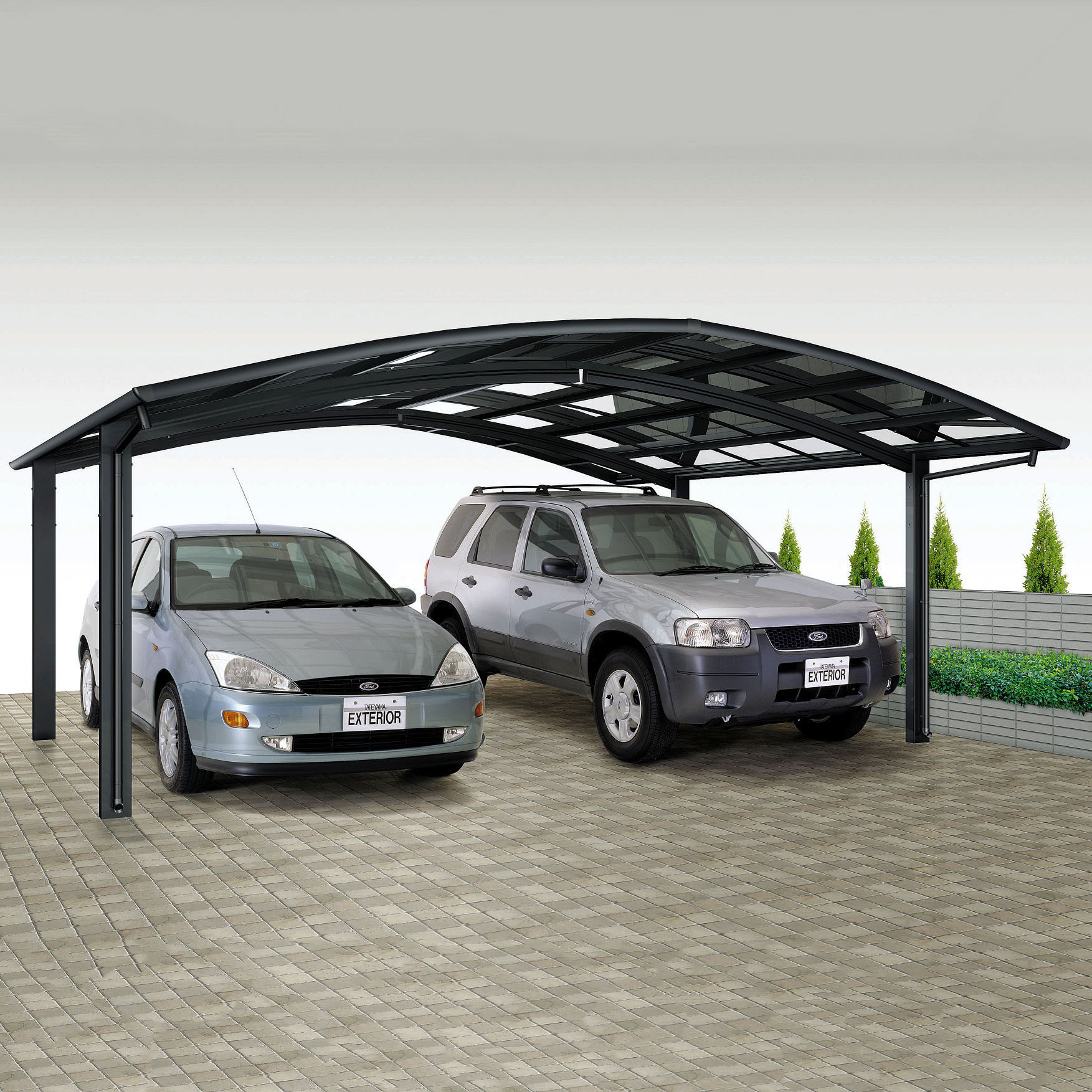 all season uv coated aluminum carport snow shelter canopy garage with polycarbonate roof