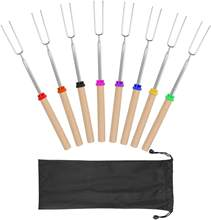 Roasting Sticks, Marshmallow Roasting Sticks 32 Inch Extendable Forks for BBQ at The Campfire (Multi-8 Pack)