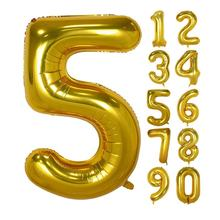 40 Inch Gold Digital Helium Foil Birthday Party Balloons Number