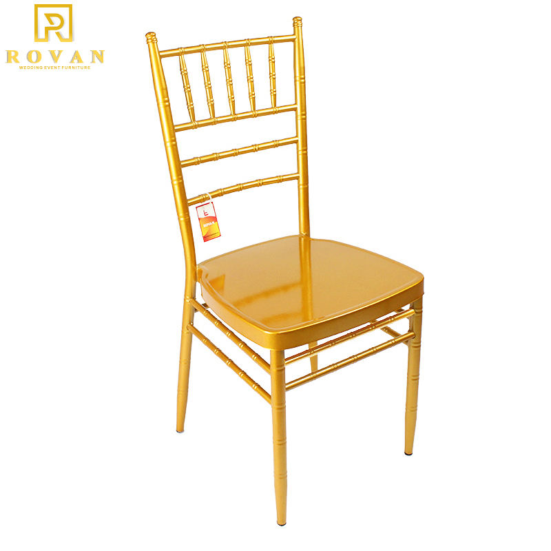 Manufactures gold chair wedding Tiffany Chairs chiavari wedding furniture 2019