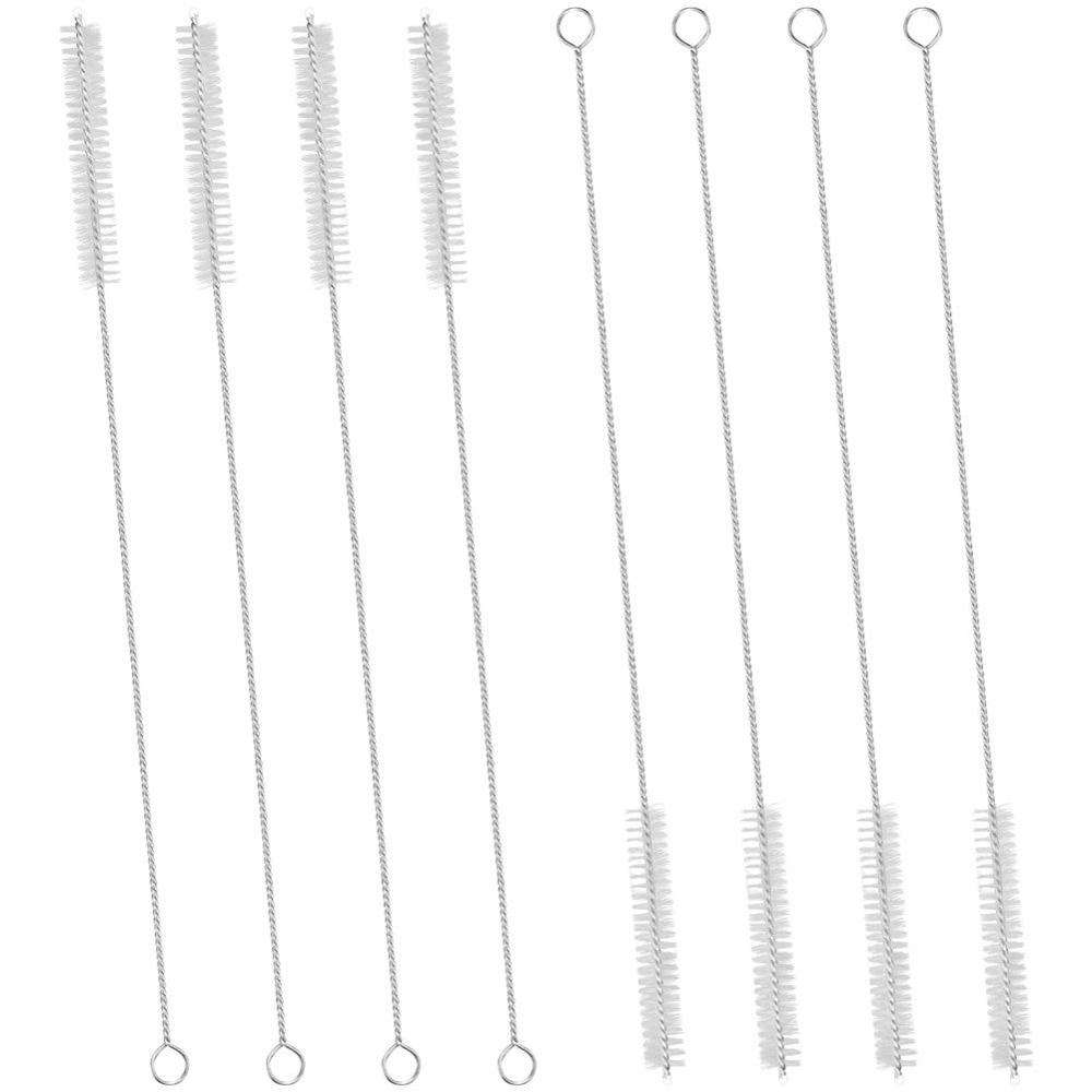 Stainless Steel Handle Drinking Straw Cleaning Brushes Pipe Tube Cleaner Nylon Bristles