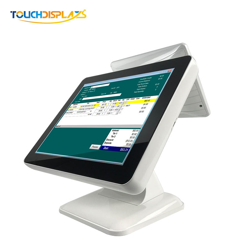 Desktop Touch Monitor 15 Inch Tft Lcd Touch Screen Pos support Pvc Id Card Laser Printer