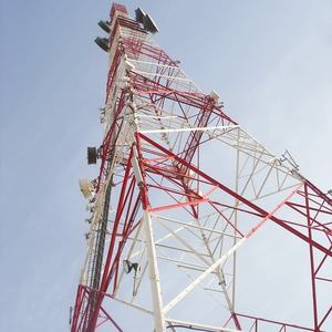 self-supporting steel lattice tower for telecommunication