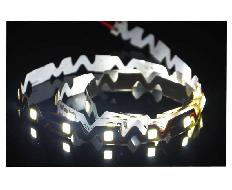 Edgelight 2835 smd led strip light ,,s shape flexible led strip DC12V for letters CE ROHS led strip