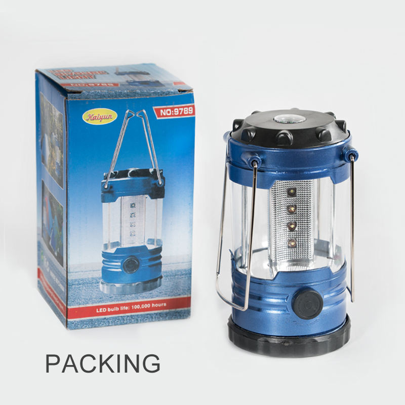 12 LED Mini Outdoor Camping Lantern With 4 AAバッテリーMini Emergency Light Colorsキャンプライト