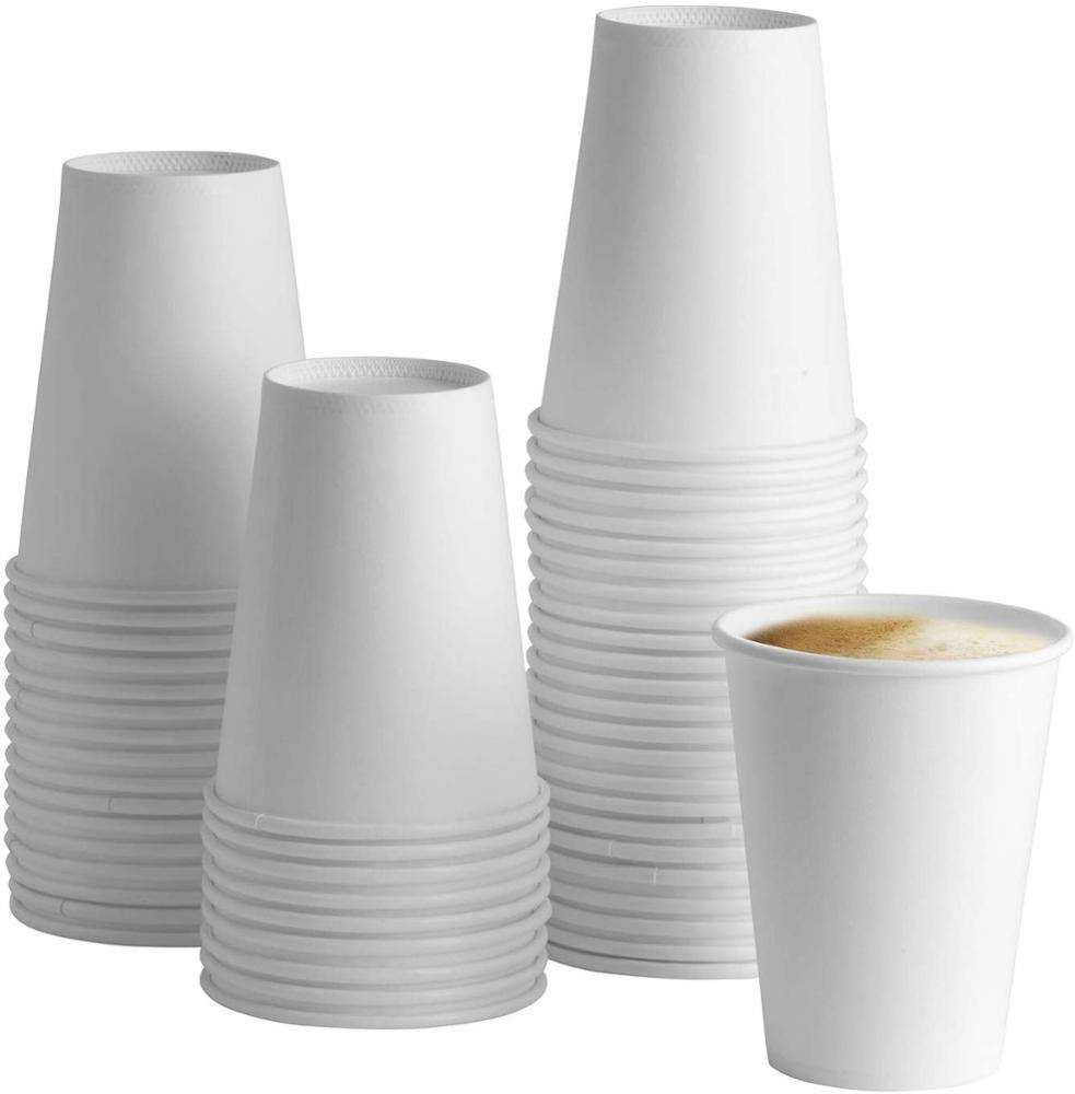 Wholesale 10oz Single Wall Food Grade Beverage Use Disposable Custom Printed Paper Coffee Cup