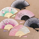 Fans Carve Fan Gift Exquisite Hand Held Silk Folding Fans With Bamboo Frame Hollow Carve Patterns Bamboo Frame Women Hand Fan Wonderful Gift