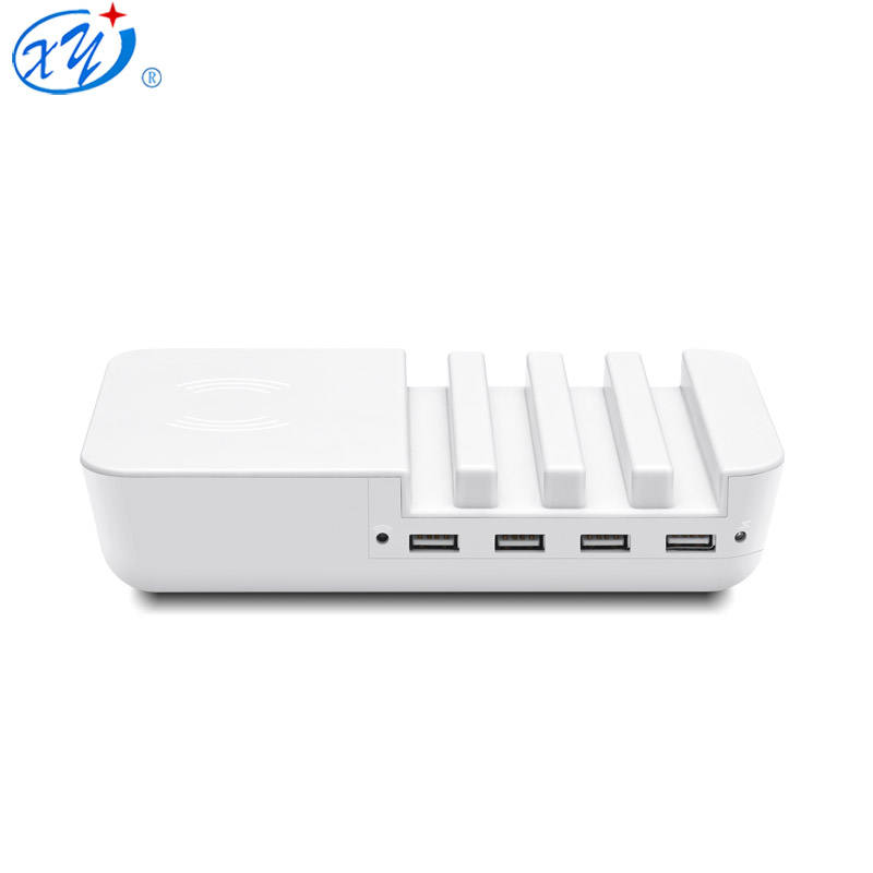 new design High Quality Smart 4 Port USB Charger Wireless Charging power adapter charger