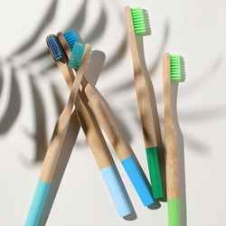 Eco-friendly Custom Multi color Biodegradable With Soft Nylon Bristles Head Wooden Organic Bamboo Toothbrush