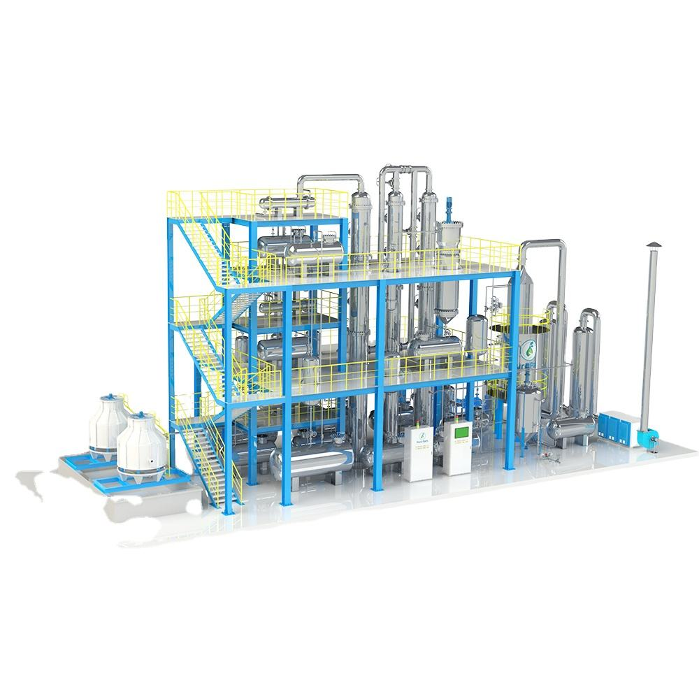 Portable motor oil refinery use to making car oil distillation machinery