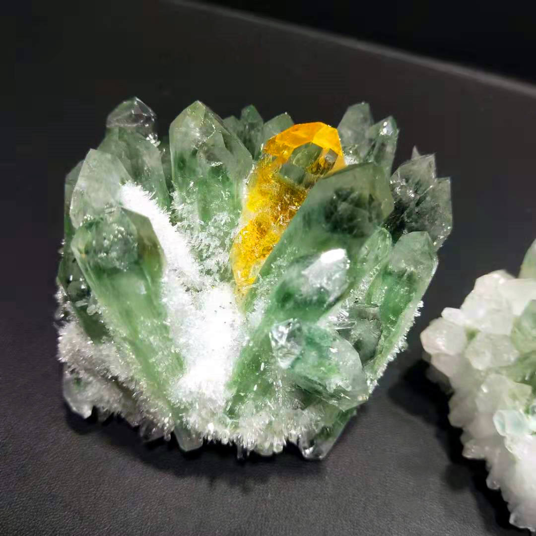 High quality reiki crystal quartz cluster rough stones crystals healing stones green quartz cluster for fengshui