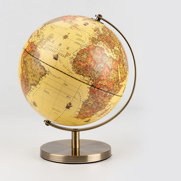 High Quality Desktop World Antique Wooden Earth Globe Wholesale