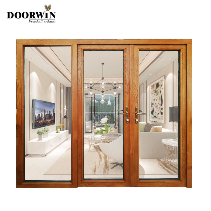 China Manufacturer Exterior Alu Clad Oak Doors Design Wooden entry door