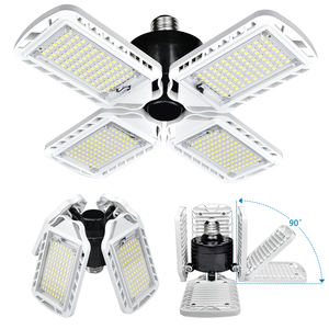 New Upgrade Super Bright Ceiling 360 Angle Adjustable Four Leaf Deformable E26 E27 60W Fan Blade Led Bulb Light