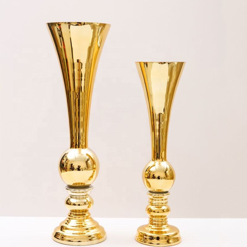 18.5 Inches Tall Trophy Shape Metal Mesh and Wooden Flower Vase