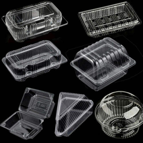 Disposable Clear Plastic Box/Containers Multi-Purpose/Sizes For Food/Cake/Salad//Cookies/Sushi