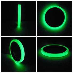 luminescent self-adhesive glow in the dark film tape for 6 hours glowing warning tape