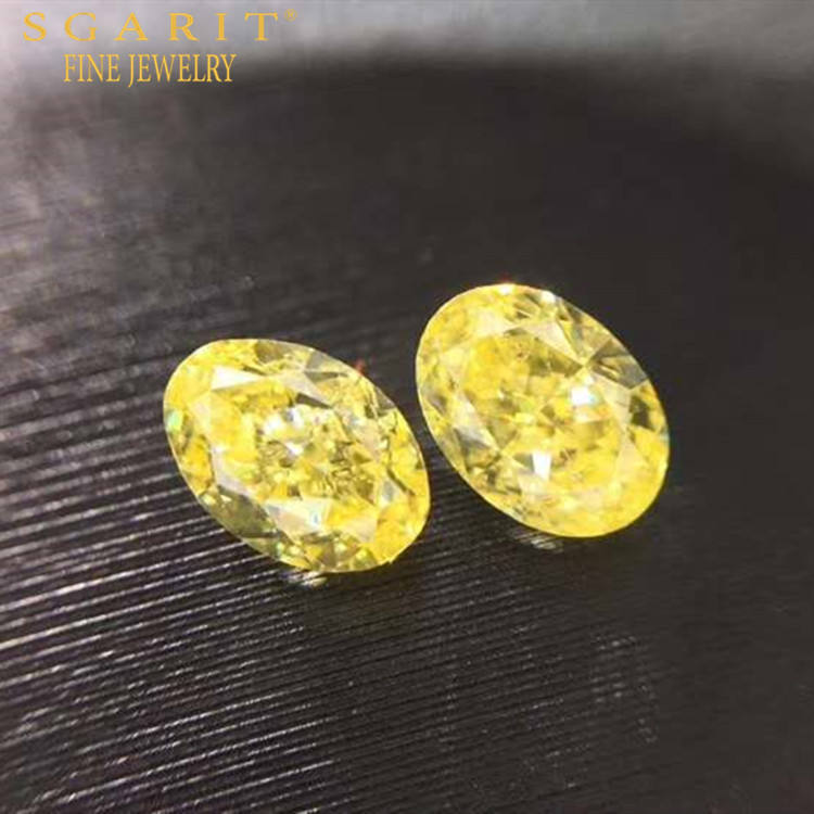 SGARIT factory sale bulk diamond for jewelry earring making 0.736ct SI-VS fancy light yellow natural loose diamond