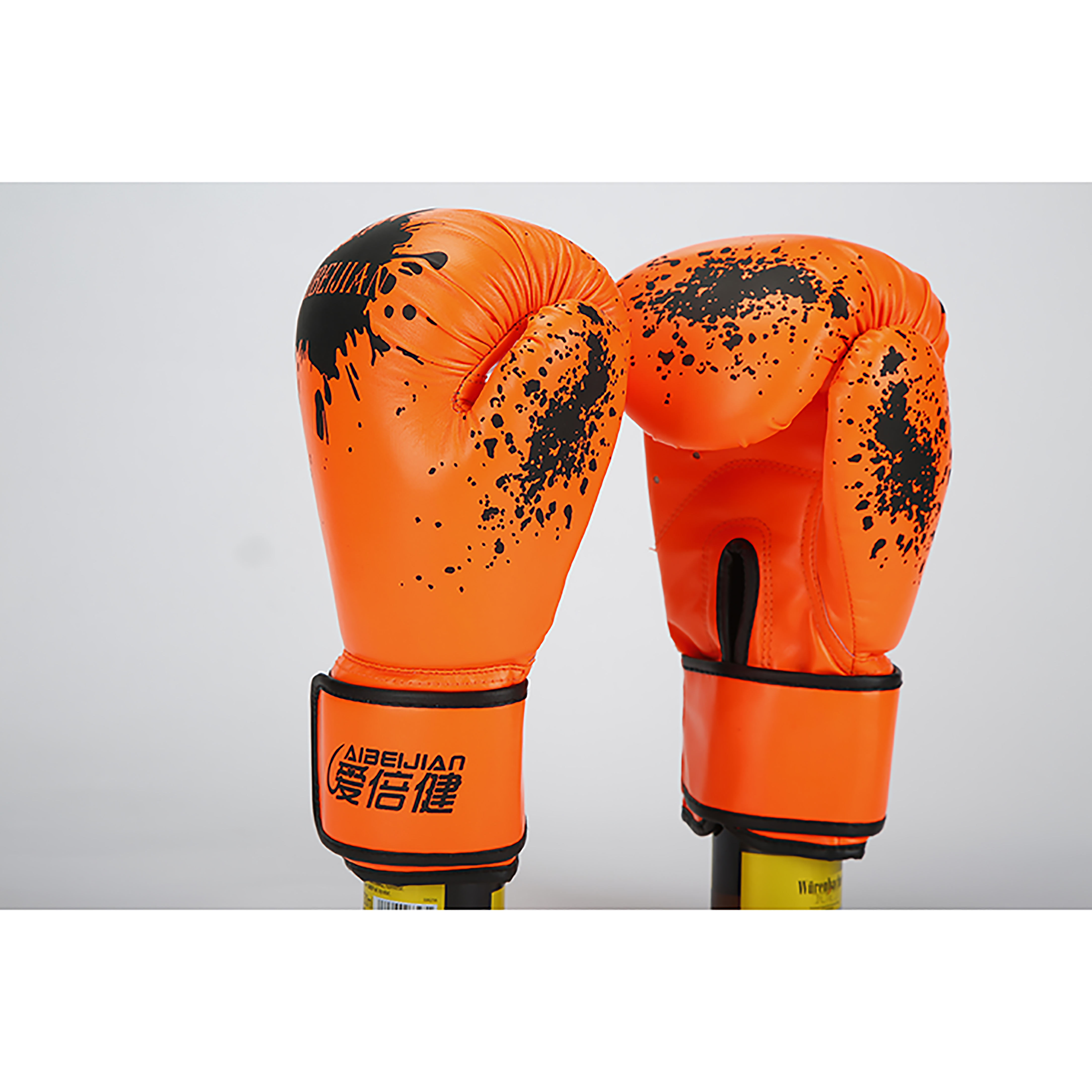 FANDING Factory Custom Professional Lace Black Green Yellow Leather Red Color Weight Material Boxing Glove