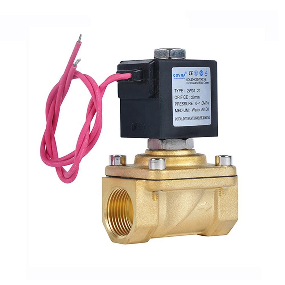 Custom General High Frequency 1 inch AC 12V 24V DC 2 inch Low Pressure Diaphragm 1/2 Brass Ball Electric Water Solenoid Valve