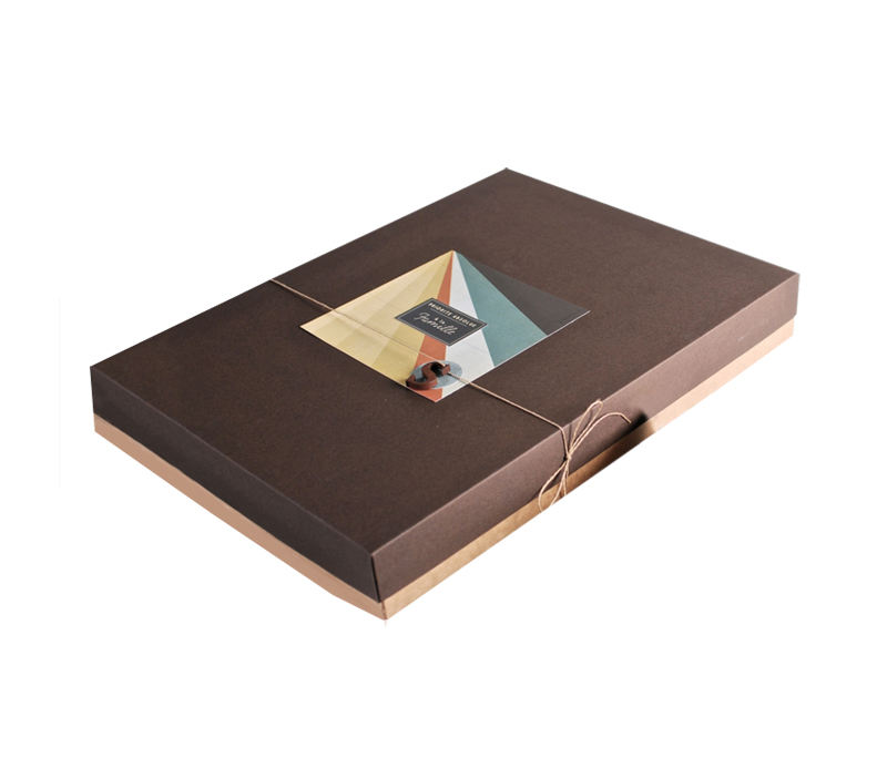 Recyclable hardness brown kraft paper photo frame packaging box books packages