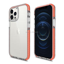 Custom OEM Wholesale Echo-tec Clear Shockproof Hybrid silicone Cell Phone Coque Fundas For iPhone 12 pro max Case