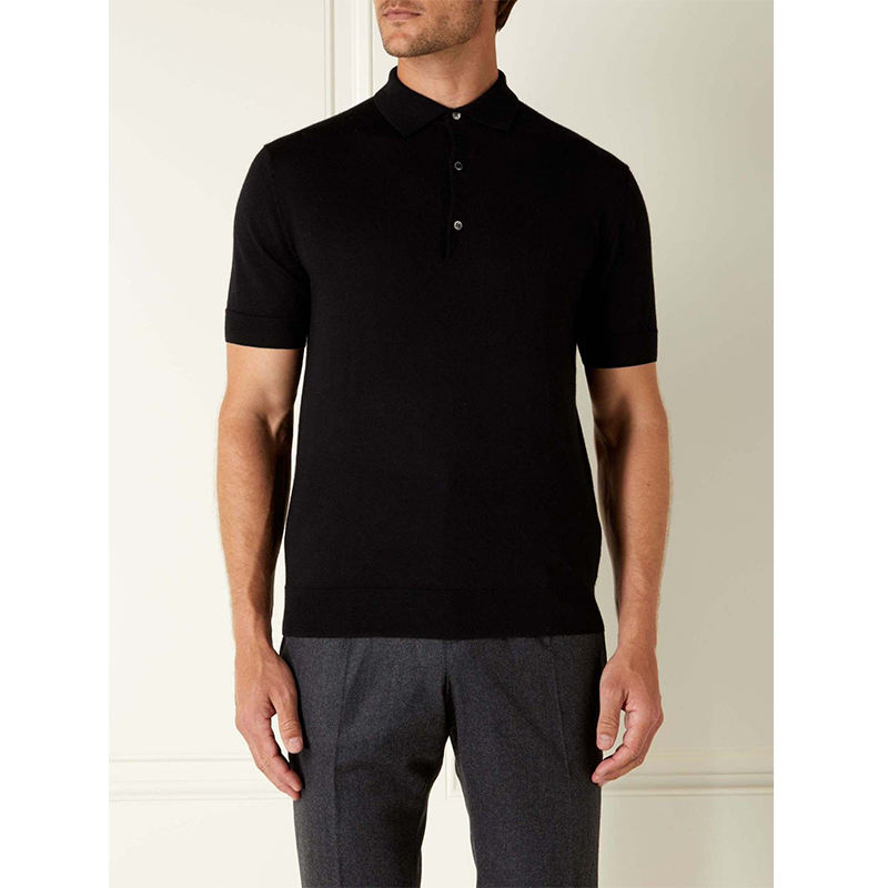 High Quality Custom 100% Cotton Black Breathable Dry Fit Golf Slim Fit Men Polo T Shirts