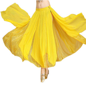 Cheap women Oriental dance Sequin Mesh skirt belly dance long skirt