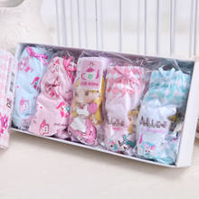 Hot modal korean baby children's triangle cotton girls briefs underwear factory direct for sales
