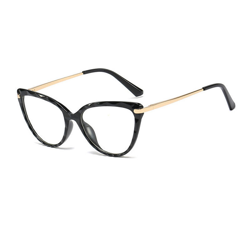 THREE HIPPOS Retro Cat Eye Anti Blue Light Blocker Transparent Glasses Men Women Myopia Eyeglasses Frame Fashion Eyeglasses