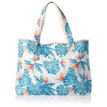Hot sale oversized trendy  summer printed beach tote  bag