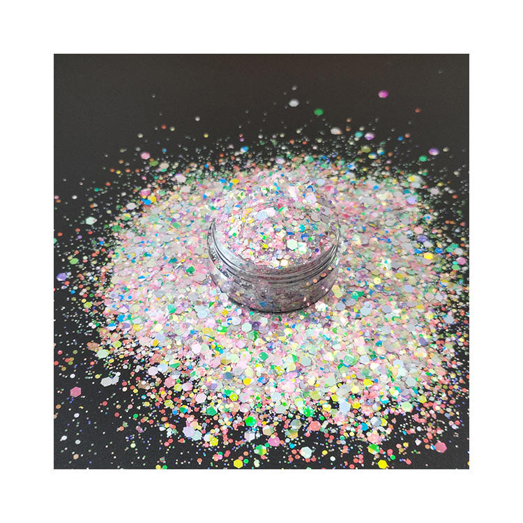 Exported good quality fine glitter makeup glitter chunky holographic glitter