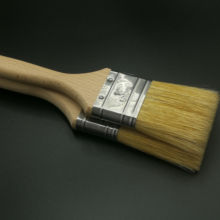 Hot selling custom size high quality wood handle wall painting natural bristle Original White Paint  Brush