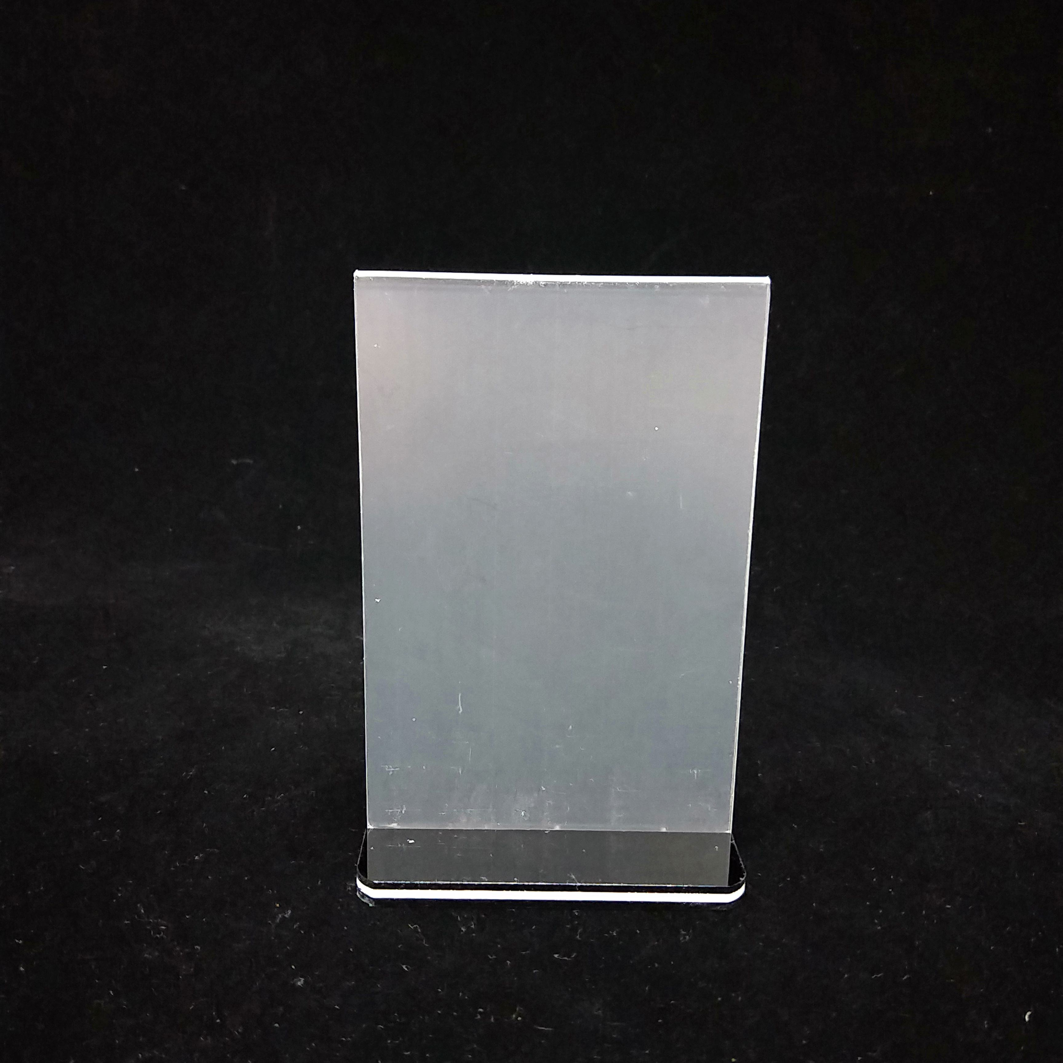 Wholesale New Design A4 clear menu display stands double side acrylic sign holder