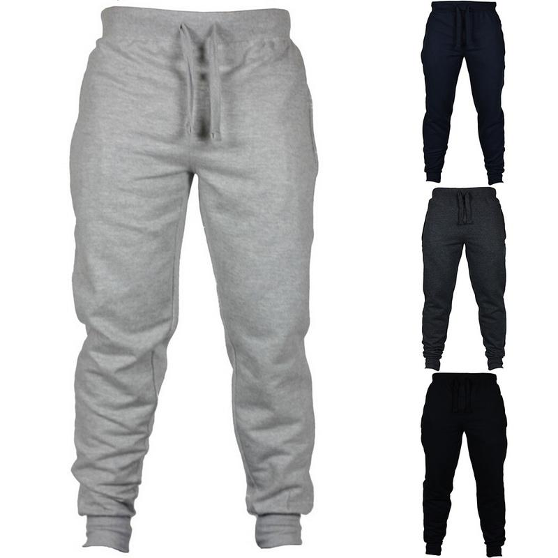 Customized New Autumn Winter Mens Sports Pants Casual Sweatpants Blank Solid Color Pants Trousers Men Legging Pants