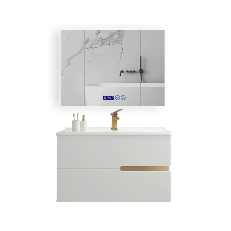 Water Proof Wood Bathroom Vanity Cabinets with Mirror
