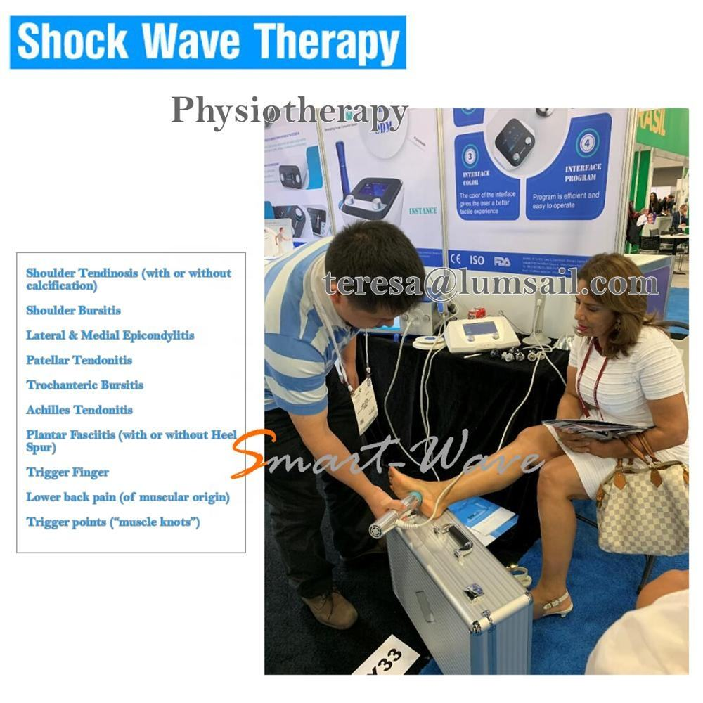 Body pain reduction shockwave Myofascial trigger point therapy e.g. neck BS-SWT2X portable electric shock therapy machine
