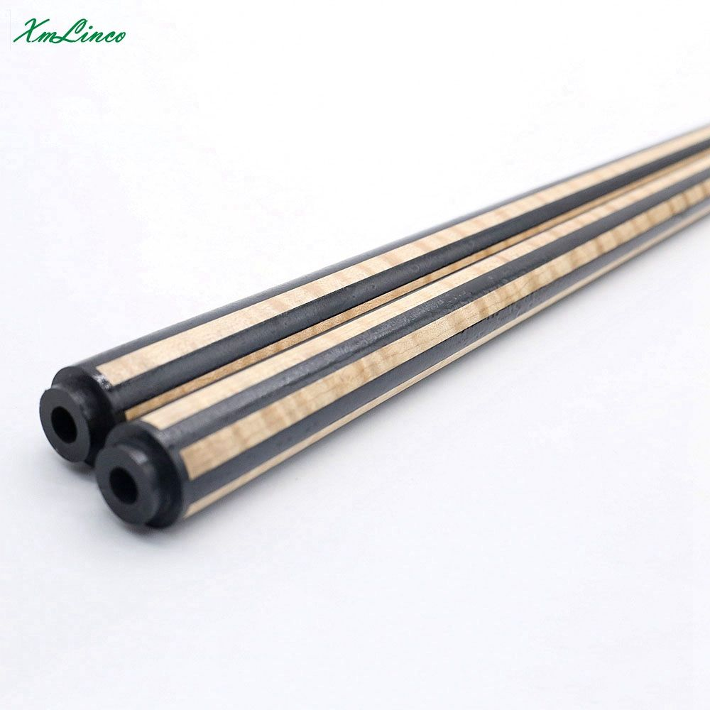 Xmlinco New arrivals curly ebony 12pcs laminated shaft for Carom Billiard 3 Cushion Game Cue