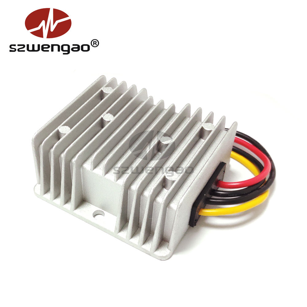8-40V 9V 12V 24V 30V to 12V 10A DC DC Converter Car Voltage Stabilizer Step-up Step-down Voltage Regulator with CE ROHS
