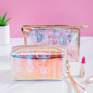 2020 Pvc Eco-Friendly Custom Clear Holographic Makeup Bag