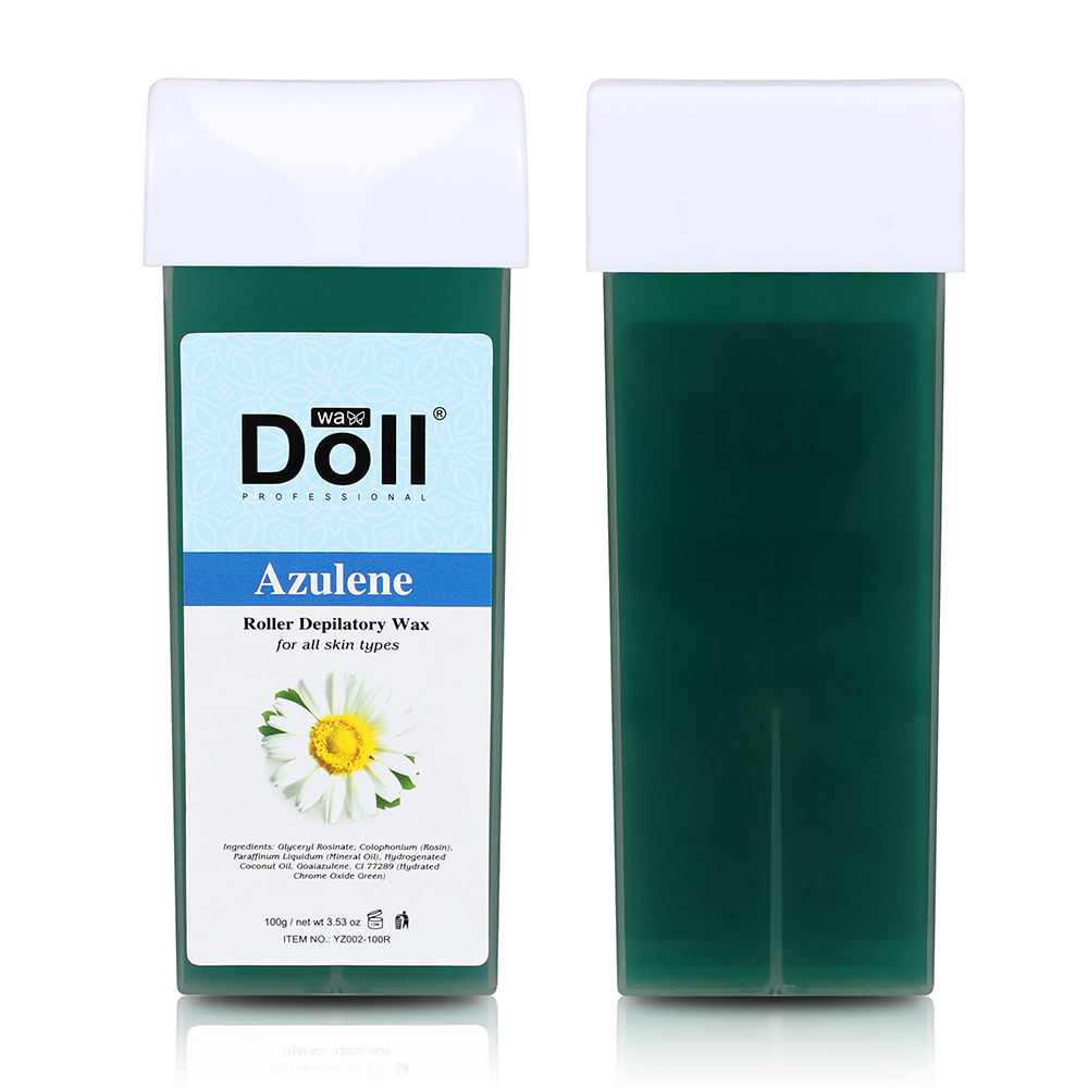 Azulene Factory Roll On Film Panas Penghilang Rambut Chamomile <span class=keywords><strong>Lilin</strong></span> Lembut <span class=keywords><strong>Lilin</strong></span> Rol Depilatori Alami 100G
