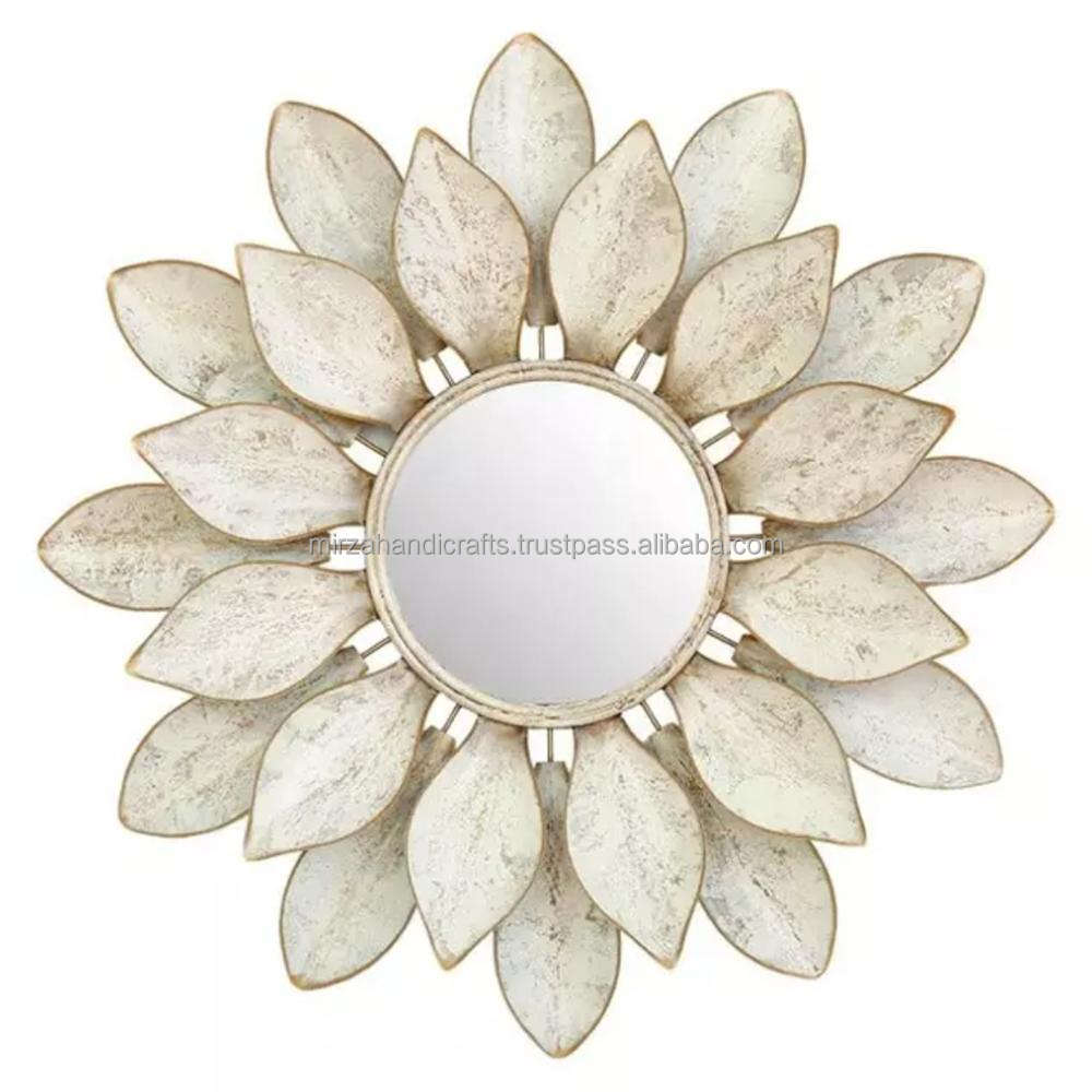 MODERN LOTUS FLOWER WALL DECORATION MIRROR WITH IRON FOR LIVING ROOM BEDROOM HOME DECORATION