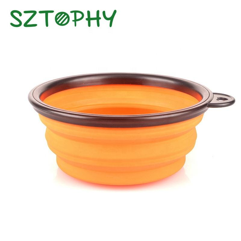 Durable High Quality Fashionable Portable Silicone Rubber Bowls for Pets Puppy