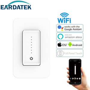 WiFi Connection Sound Control Light Switch Dimmer Smart with Touch Panel