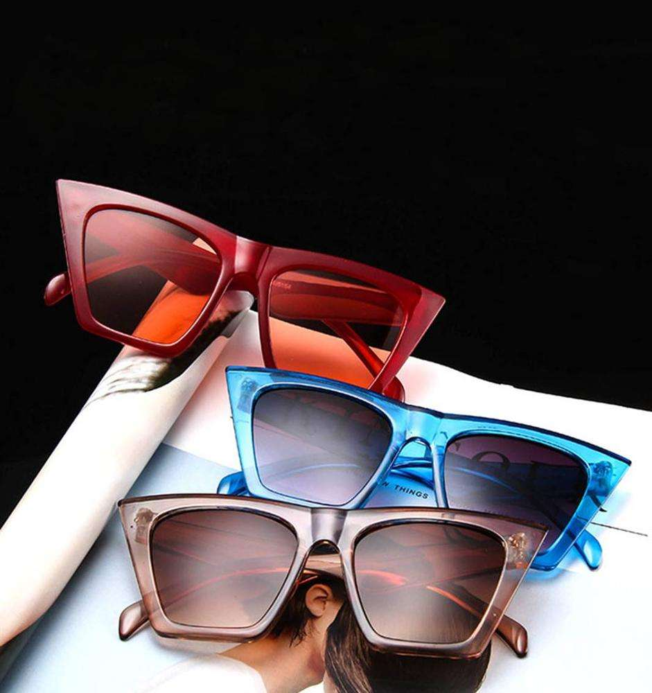 cat eye shade for women fashion sunglasses brand woman vintage retro triangular cateye glasses oculos feminino sunglasses Sexy