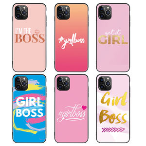 Custom Print Boss Girl Lady Shockproof Matte Cover TPU Phone Case for Samsung A30 A50 A70 Back Cover for iPhone 7 8 XS 11