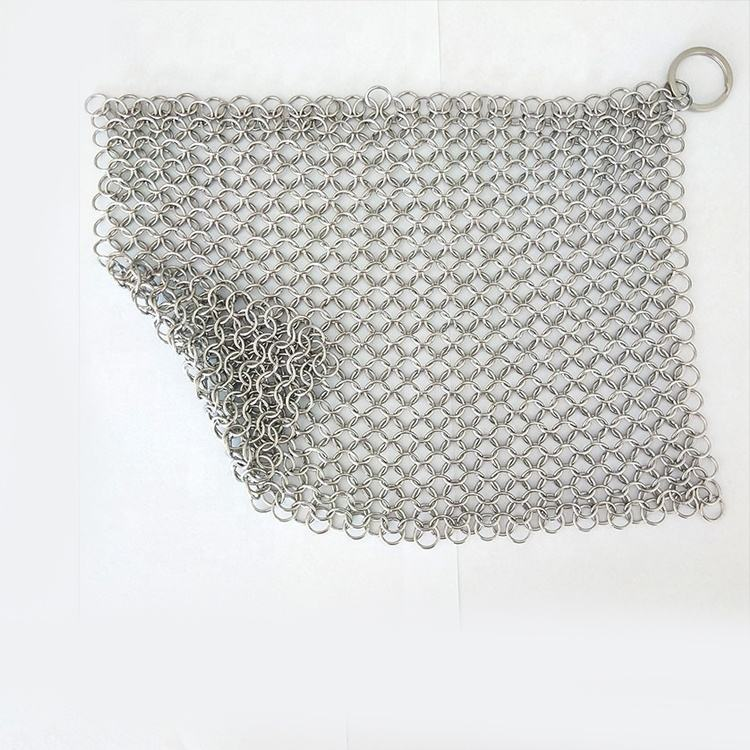 Groothandel draagbare hoge kwaliteit food grade <span class=keywords><strong>chainmail</strong></span> <span class=keywords><strong>scrubber</strong></span>