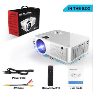 CHEERLUX C9 Newest HD Projector native 720P 2800 lumens LED Projector Home Theater Projector